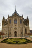 Saint Barbara Church. Saint Barbara's Church (often incorrectly Saint Barbara Cathedral) in Kutna Hora (Bohemia) is one of the most famous Gothic churches in Stock Photo
