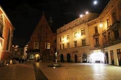 Saint barbara by night Royalty Free Stock Images