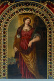 Saint Barbara. Painting on the church altar Royalty Free Stock Images