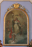 Saint Barbara. Painting on the church altar Stock Image