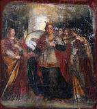 Saint Barbara. Painting on the church altar Royalty Free Stock Photography