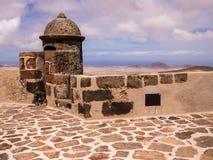 Saint Barbaras Castle in Lanzarote, Spain Stock Image