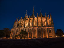 Saint Barbara`s Church in Kutna Hora, Czech Republic. Royalty Free Stock Images