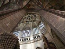 Pointed vault of Saint Barbara church Royalty Free Stock Images