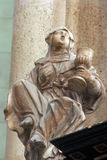 Saint Barbara. Statue in Zagreb cathedral Stock Images