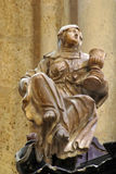 Saint Barbara. Statue in Zagreb cathedral Royalty Free Stock Image