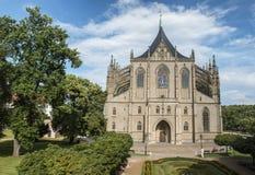 Saint Barbara& x27; igreja de s na cidade de Kutna Hora, República Checa Foto de Stock Royalty Free