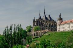 Saint Barbara's Church and Jesuit College ( Jezujit kolej) . Kut Royalty Free Stock Images