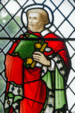 Saint Barnabas Stained Glass window. Victorian stained glass window depicting the disciple and martyr Saint Barnabas Royalty Free Stock Image