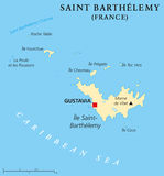 Saint Barthelemy Political Map Stock Photo