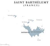 Saint Barthelemy political map Stock Photos