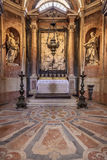 Saint Bartholomew and Saint Matthew. Baroque statues. Basilica of the Mafra Royalty Free Stock Images