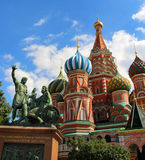 Saint Basil Cathedral cupola, Moscow, Russia. Beautiful view of Saint Basil Cathedral cupola, Moscow, Russia stock image