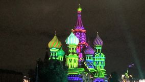 Saint Basil cathedral stock video
