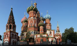 Saint basil cathedral at Moscow Royalty Free Stock Images