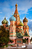 Saint Basil Cathedral in Moscow Stock Image