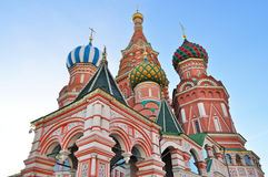 Saint Basil Cathedral in Moscow Stock Photo