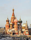 Saint Basil  Cathedral in Moscow. Russia Stock Photography