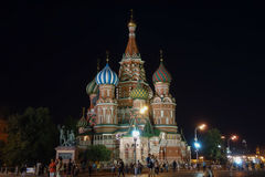 Saint Basil Cathedral in Moscow. MOSCOW, RUSSIA - CIRCA AUGUST 2016: Cathedral of Saint Basil stock images