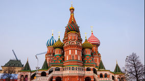 Saint Basil Cathedral in Moscow stock video