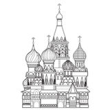 Saint Basil cathedral , Moscow, vector Royalty Free Stock Photography