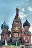 Saint Basil Cathedral no quadrado vermelho Imagens de Stock