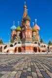 Saint Basil Cathedral no quadrado vermelho, Moscou Fotografia de Stock