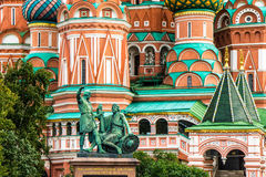 Saint Basil Cathedral, place rouge Images stock