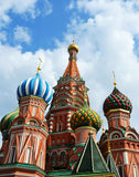 Saint Basil Cathedral on Red square Stock Photos