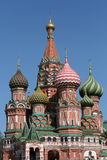 Saint Basil cathedral at Red Square in Moscow Stock Photos