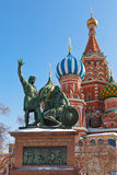 Saint Basil Cathedral on Red square, Moscow Royalty Free Stock Photos