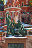 Saint Basil Cathedral on Red square, Moscow Stock Photos