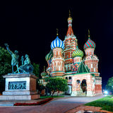 Saint Basil cathedral on the Red Square in Moscow Stock Photos