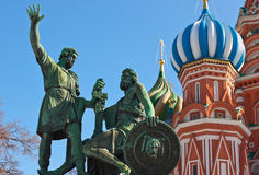 Saint Basil Cathedral on Red square, Moscow Royalty Free Stock Photography