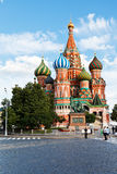 Saint Basil cathedral on Red square in Moscow Stock Images
