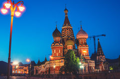 Saint Basil Cathedral on Red Square in Moscow Royalty Free Stock Photography