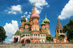 Saint Basil cathedral on the Red Square in Moscow, Russia. (Pokr Royalty Free Stock Photos