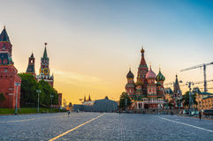 Saint Basil Cathedral on Red Square in Moscow Stock Image
