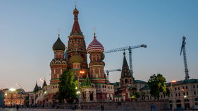 Saint Basil Cathedral on Red Square in Moscow stock footage