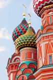 Saint Basil cathedral. Red Square, Moscow. Stock Image