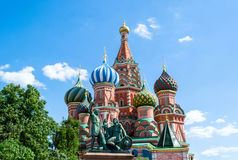 Saint Basil Cathedral, in the Red Square of Moscow Royalty Free Stock Photography
