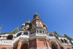 Saint Basil cathedral Temple of Basil the Blessed, Red Square, Moscow, Russia stock images