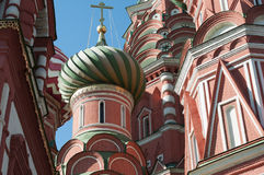 Saint Basil Cathedral and Vasilevsky Descent of Red Square in Moscow Kremlin, Russia Stock Photos
