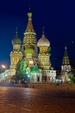 Saint Basil church at night Stock Image