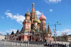 Saint Basil Church and Red Square, Moscow. View to Saint Basil Church and Red Square, Moscow, Russia Stock Images