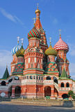 Saint Basil colorful onion shaped domes in Moscow stock photography