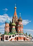 Saint Basil orthodox cathedral. In Moscow, Russia Royalty Free Stock Photo