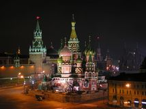 Saint Basil's cathedral. Moscow royalty free stock photo