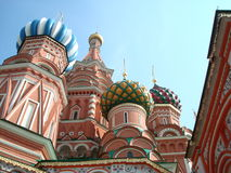 Saint Basil's Cathedral. The cathedral is traditionally perceived as symbolic of the unique position of Russia between Europe and Asia Royalty Free Stock Photos
