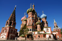 Saint Basil's Cathedral. In Red square in Moscow stock photos
